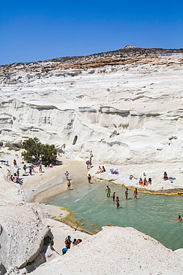 Sarakiniko Beach; Milos Island, Cyclades, Greece - p442m2154197 by Richard Maschmeyer