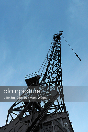 Historic maritime crane - p1048m1080130 by Mark Wagner