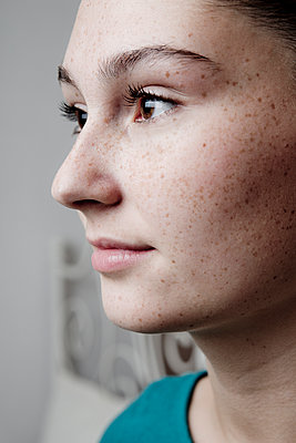 Girl with freckles - p1221m1066090 by Frank Lothar Lange