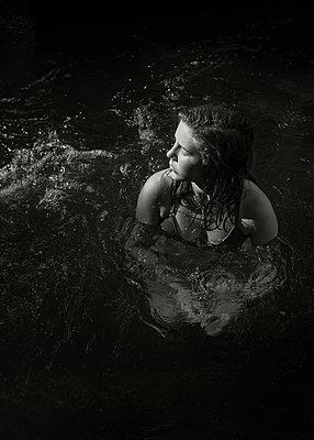 Sitting in Water - p1503m2031861 by Deb Schwedhelm