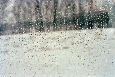 Regentropfen am Fenster - p3880556 von Thomas Roussel
