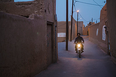 Night Patrol, Yazd, Iran - p798m1034732 by Florian Loebermann