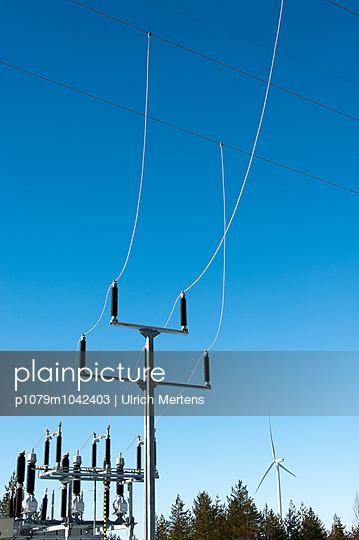 Umspannwerk eines Windparks  - p1079m1042403 von Ulrich Mertens