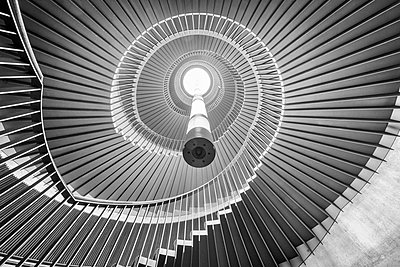 Staircase, Rotunda, Usher Hall, Edinburgh - p1652m2257770 by Callum Ollason