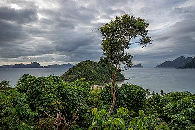 Philippines, Palawan, El Nido, Marimegmeg, dark clouds - p300m2069637 von Daniel Waschnig Photography