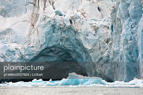 Gletschertor mit Möwen - p1486m2037624 von LUXart