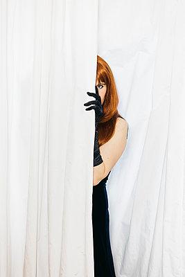 Behind the curtain - p1621m2283373 by Anke Doerschlen