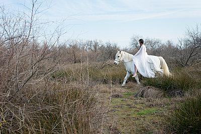 Woman riding a horse - p1041m1042363 by Franckaparis