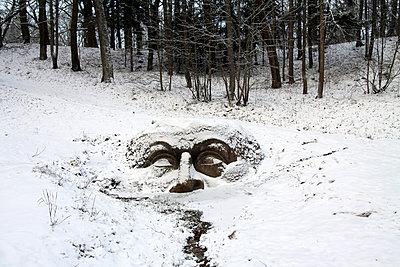 Snow stone head  - p1063m1057295 by Ekaterina Vasilyeva