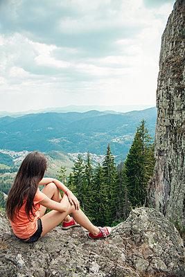 Girl in the mountains - p1432m2273299 by Svetlana Bekyarova