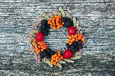 Crest with berries - p533m853856 by Böhm Monika