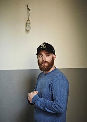 Man with beard - p921m882308 by Boris Leist