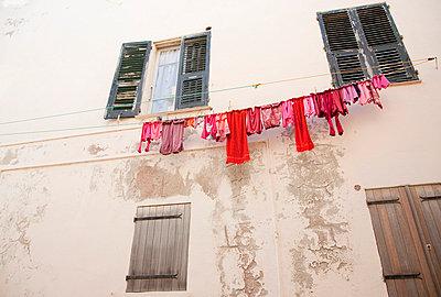 Wäsche aufhängen - p4350102 von Stefanie Grewel