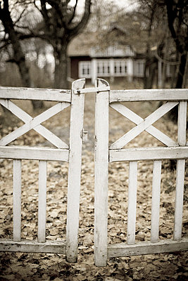 An old gate in front of a house Gotland Sweden. - p31221826f by Johan Odmann
