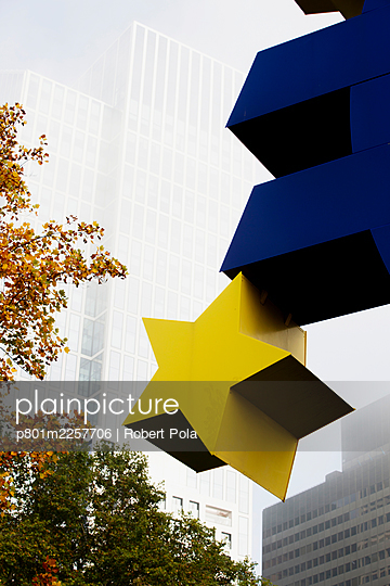 Euro Symbol - p801m2257706 by Robert Pola