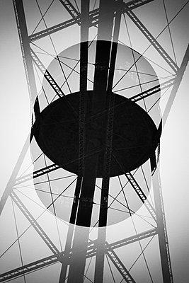 Double exposure symmetry of pylon - p301m960769f by Michael Mann