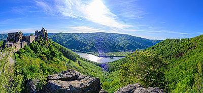 Blick auf die Donau und Ruine Aggstein, Wachau, Niederösterreich - p1463m2292934 von Wolfgang Simlinger