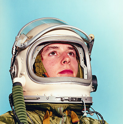 young man posing as an astronaut - p3012497f by fStop