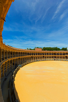 Bull fighting ring; Ronda, Malaga Province, Spain - p442m2154370 by Carson Ganci