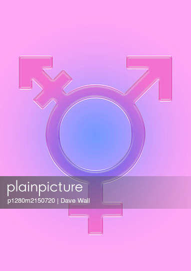 Transgender Symbol in 3D glass - p1280m2150720 by Dave Wall