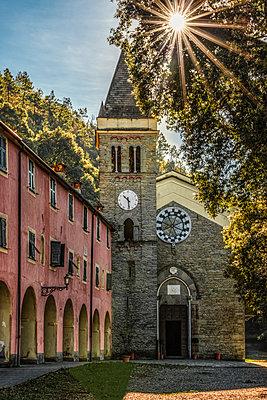 Italy, Liguria, Cinque Terre, Monterosso, Santuario Nostra Signora di Soviore - p300m2023609 by Carmen Steiner