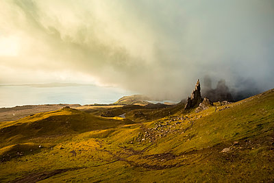 UK, Scotland, Isle of Skye, The Storr at cloudy day - p300m1487457 by Christina Falkenberg