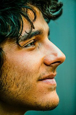 Profile of Hispanic man - p555m1410092 by Eric Raptosh Photography