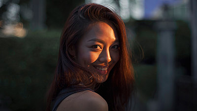 Portrait of young Asian woman - p1324m1441364 by Michael Hopf