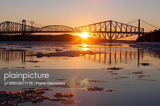 Quebec City Bridge - p1328m2077176 by Pierre Desrosiers