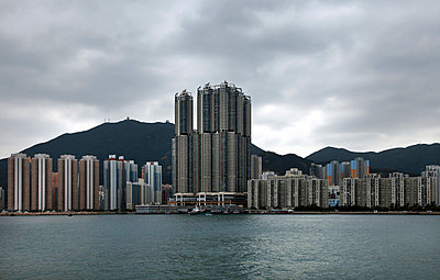 Skyline of towers in hong kong - p6640087 by Yom Lam