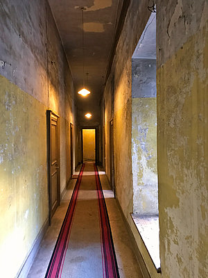 Re-decorating a corridor - p1048m2016804 by Mark Wagner