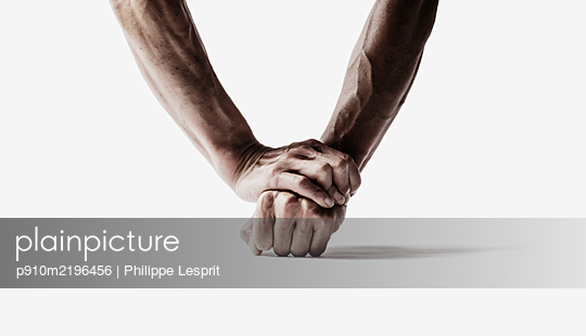 Human muscles, forearms and hands - p910m2196456 by Philippe Lesprit