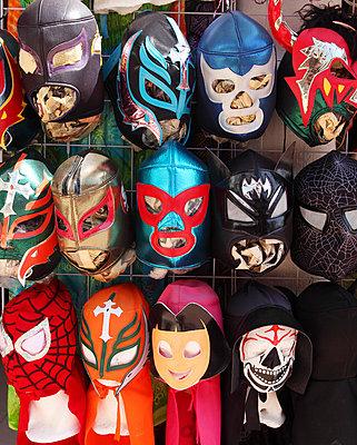 Wrestling masks - p045m813415 by Jasmin Sander