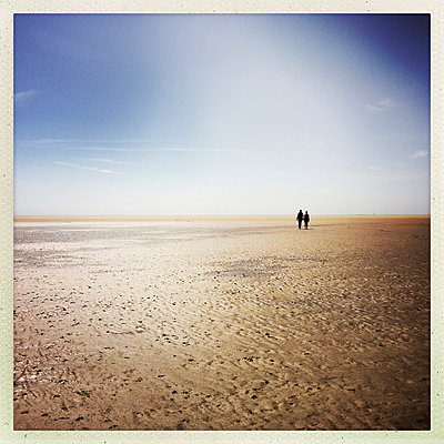 Walking the North Sea mudflats at St. Peter Ording - p427m1515637 by Ralf Mohr