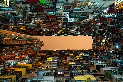 View of crowded residential buildings in Hong Kong - p623m2294908 by Pablo Camacho