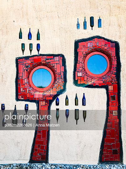 Facade of the Altenrhein market hall - p382m2263626 by Anna Matzen