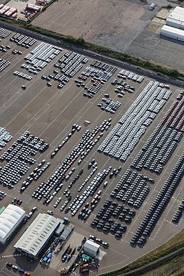 New Cars aerial view - p1048m1069221 by Mark Wagner