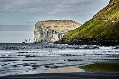 View of the steep coast, Faroe Islands - p1239m2272844 by Krista Keltanen