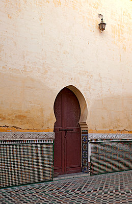 Door in Meknes - p382m1110598 by Anna Matzen