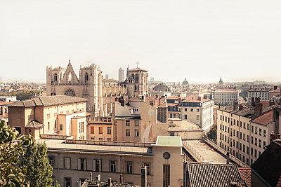 France, Department Rhone, Lyon, View to Lyon Cathedral - p300m975370f by Susan Brooks-Dammann