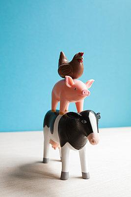 Farm animals stack - p454m2215891 by Lubitz + Dorner