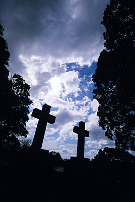 Cemetery crosses - p1261m1124586 by tromp l'oeil