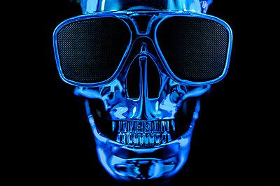 Blue skull - p1523m2082462 by Nic Fey