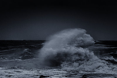 Stormy sea - p910m1159401 by Philippe Lesprit