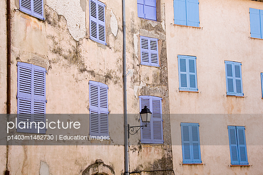 Old Frontage, Cotignac, France - p1403m1482730 by Education Images