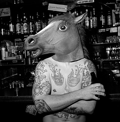 Horse drinking beer - p8660001 by aKampmeyer