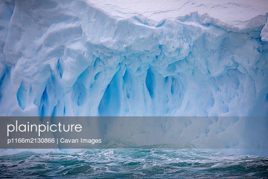 Iceberg details, Antarctica - p1166m2130866 by Cavan Images
