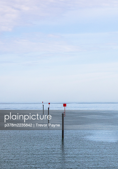 Shipping channel markers - p378m2235842 by Trevor Payne