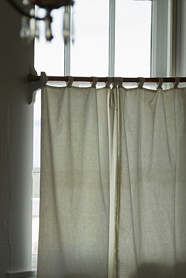 Window with Closed Curtains - p1331m1169259 by Margie Hurwich