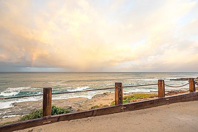 Stormy November sunrise above Windansea Beach. La Jolla, CA. - p1436m2142658 by Joseph S. Giacalone